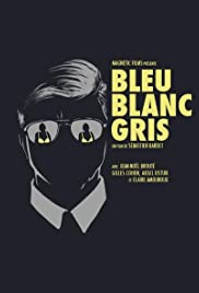 Bleu Blanc Gris Poster