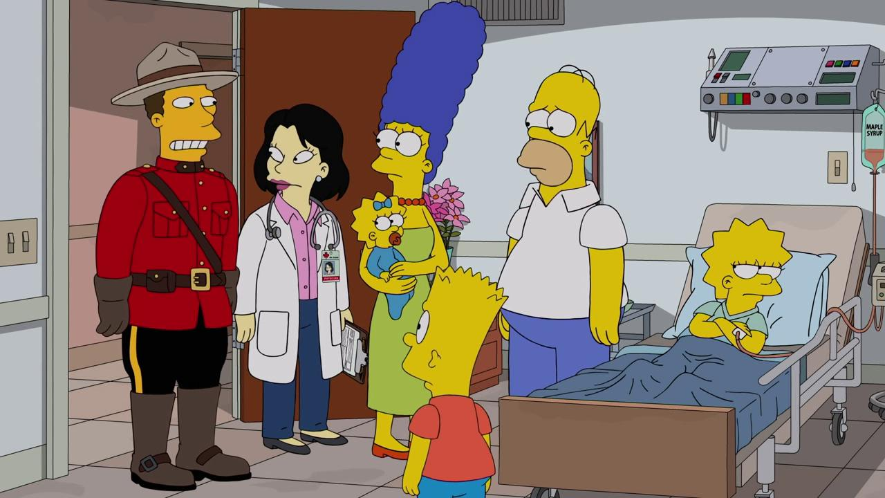 Julie Kavner, Nancy Cartwright, Dan Castellaneta, Yeardley Smith, and Awkwafina in The Simpsons (1989)
