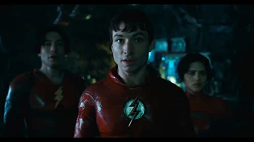 First look at the Scarlet Speedster's solo film starring Ezra Miller as Barry Allen, Ben Affleck as Batman, and in his long-awaited return to the cape and cowl, Michael Keaton as Bruce Wayne/Batman.