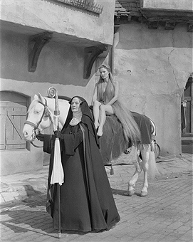 Maureen O'Hara and Kathryn Givney in Lady Godiva of Coventry (1955)