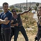 Ricardo Abarca, Gina Rodriguez, and Ismael Cruz Cordova in Miss Bala (2019)
