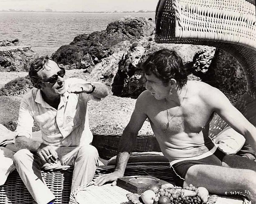 Bekim Fehmiu and Lewis Gilbert in The Adventurers (1970)