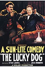 Oliver Hardy and Stan Laurel in The Lucky Dog (1921)