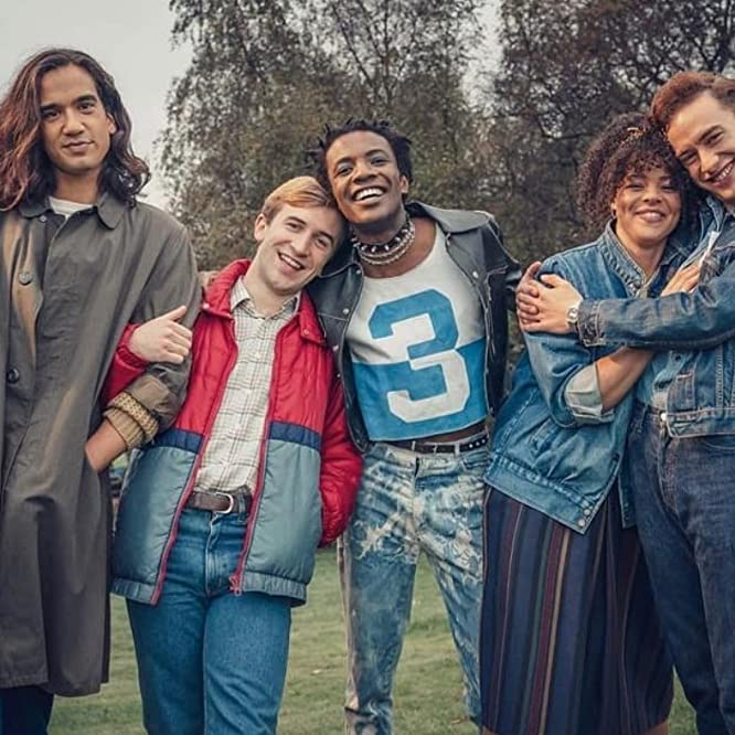Nathaniel Curtis, Callum Scott Howells, Olly Alexander, Omari Douglas, and Lydia West in It's a Sin (2021)