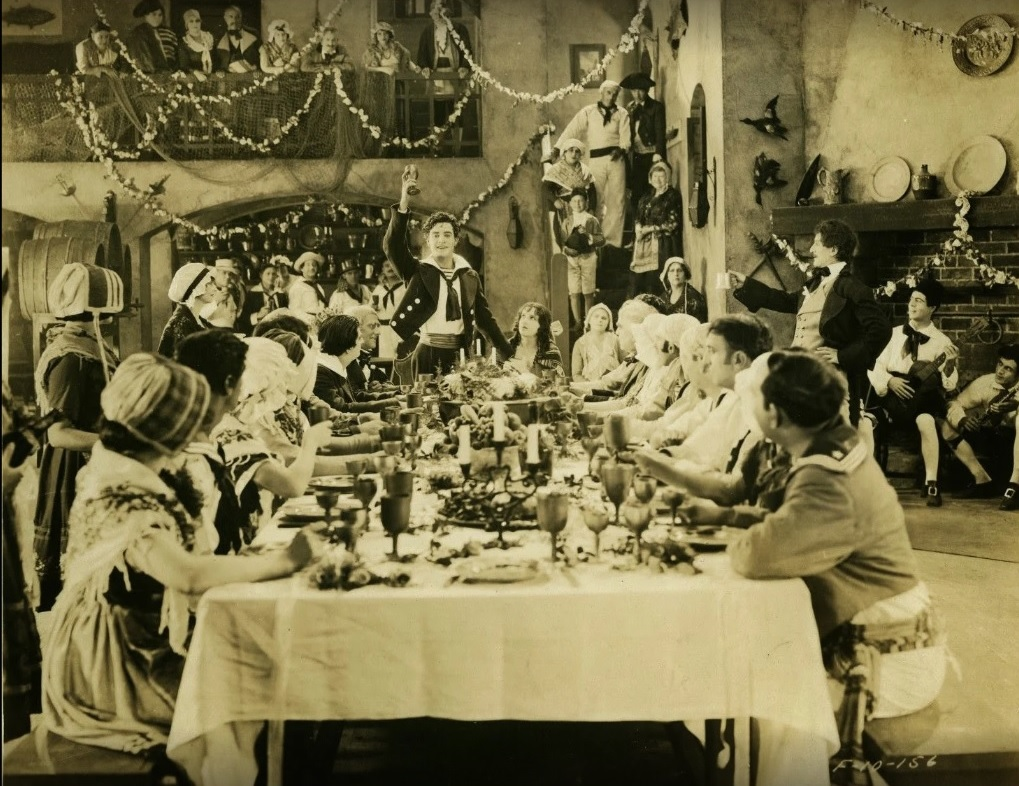 Renée Adorée, Al W. Filson, John Gilbert, Gaston Glass, George Siegmann, and Estelle Taylor in Monte Cristo (1922)