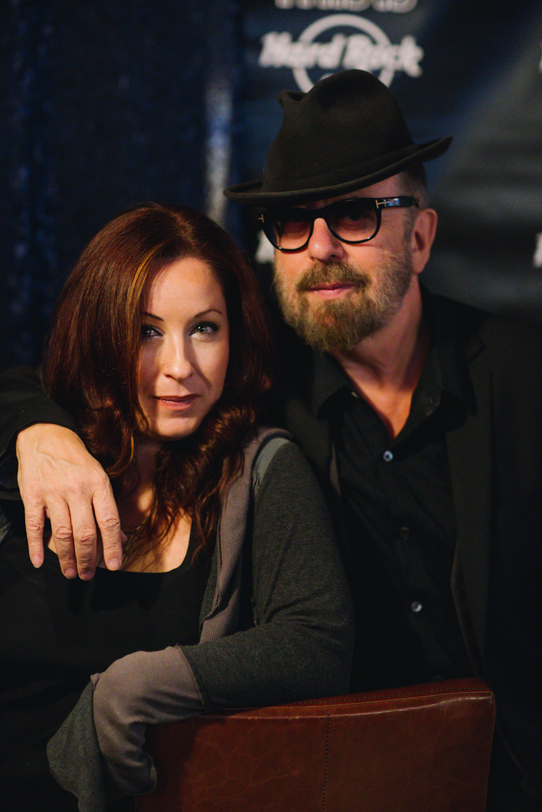 Dawn Garcia and David Stewart of the Eurythmics