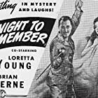 Brian Aherne and Loretta Young in A Night to Remember (1942)
