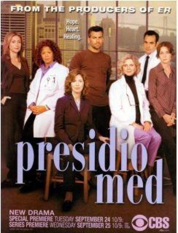 Blythe Danner, Dana Delany, Oded Fehr, Sasha Alexander, Paul Blackthorne, Julianne Nicholson, and Anna Deavere Smith in Presidio Med (2002)