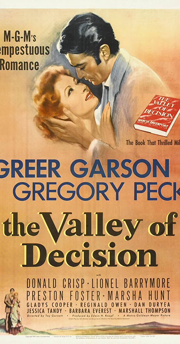 The Valley Of Decision 1945 Imdb