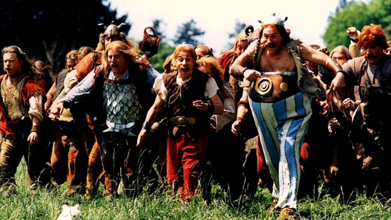 Gérard Depardieu, Christian Clavier, Jean-Jacques Devaux, and Jean-Roger Milo in Astérix & Obélix contre César (1999)