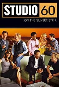 Amanda Peet, Matthew Perry, Steven Weber, Sarah Paulson, Timothy Busfield, D.L. Hughley, Bradley Whitford, and Nate Corddry in Studio 60 on the Sunset Strip (2006)