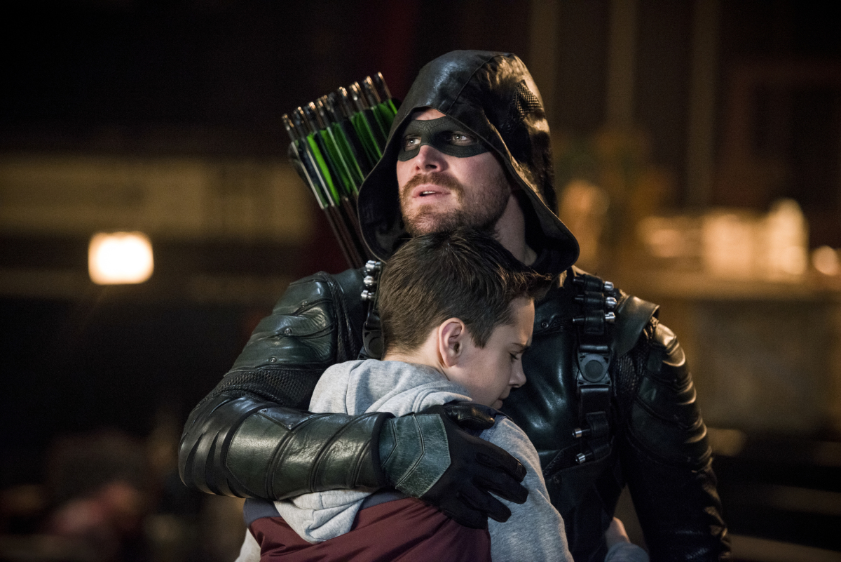 Stephen Amell and Jack Moore in Arrow (2012)