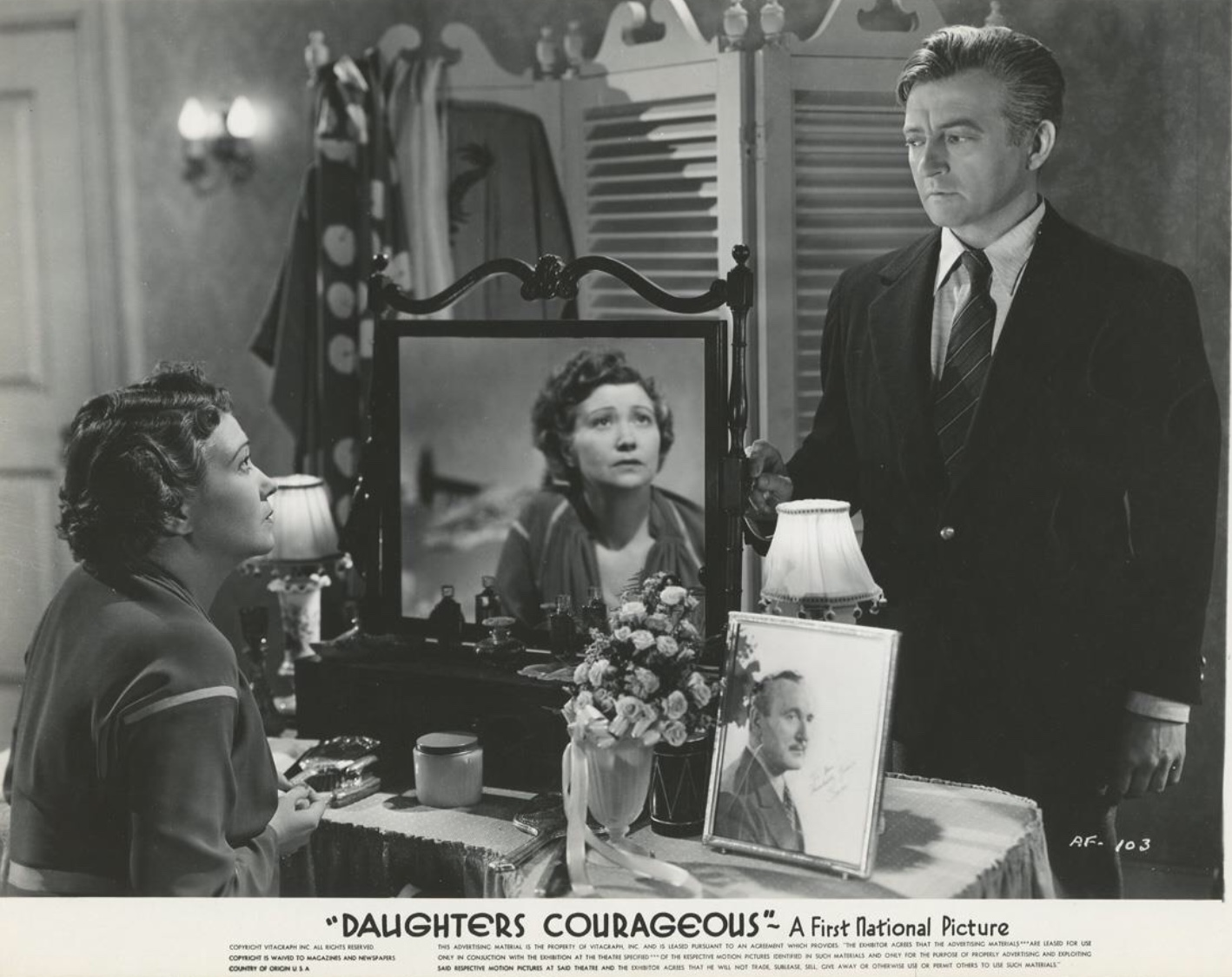 Claude Rains and Fay Bainter in Daughters Courageous (1939)