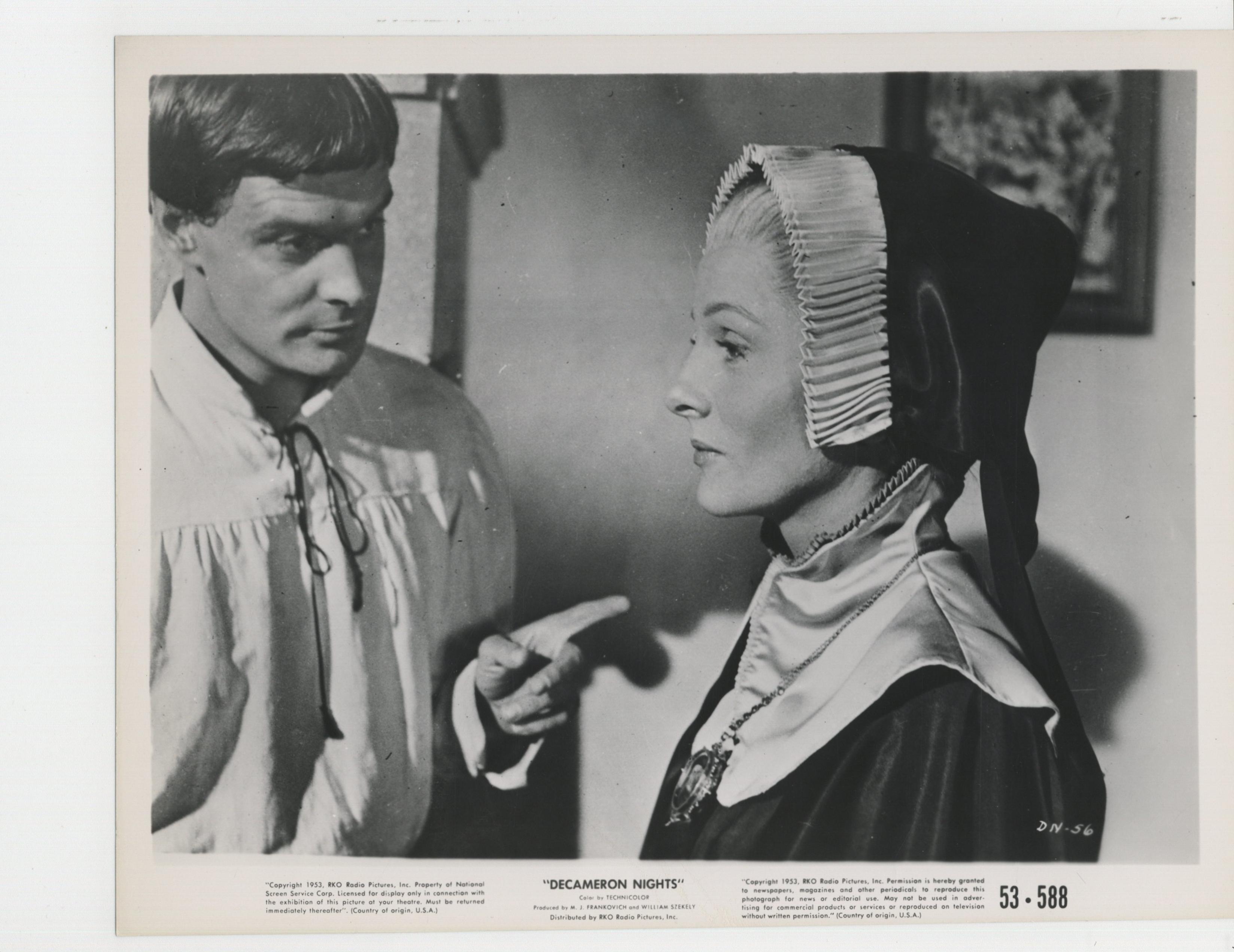 Joan Fontaine and Louis Jourdan in Decameron Nights (1953)