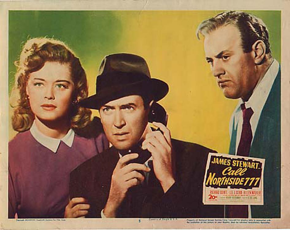 James Stewart, Lee J. Cobb, and Helen Walker in Call Northside 777 (1948)
