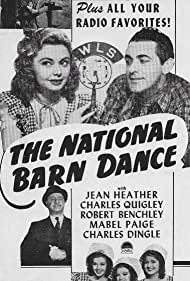 Robert Benchley, Jean Dinning, Ginger Dinning, Lou Dinning, Jean Heather, Frank Kettering, Charles Quigley, Paul Trietsch, Ken Trietsch, Charles Ward, The Hoosier Hotshots, and The Dinning Sisters in National Barn Dance (1944)