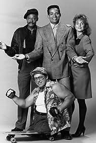 Mario Van Peebles, Terry Donahoe, Melvin Van Peebles, and Bob Wieland in Sonny Spoon (1988)