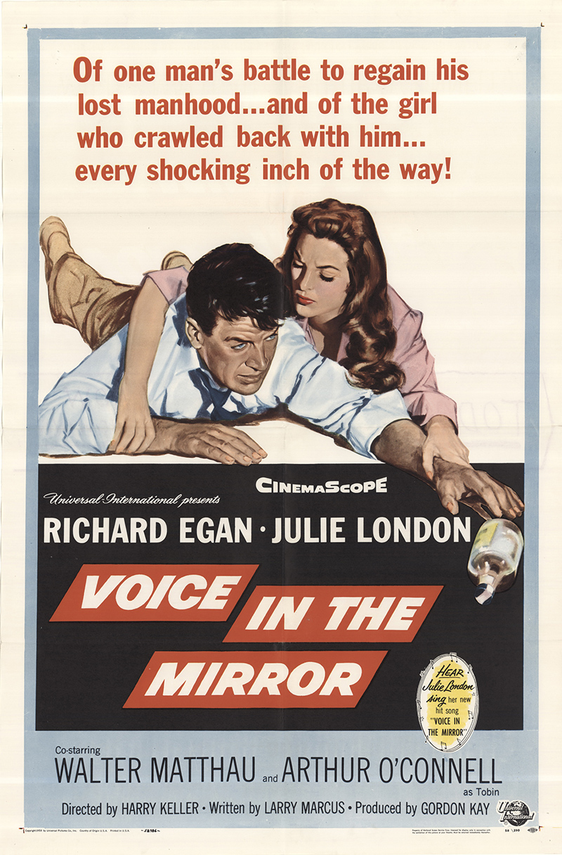 Richard Egan and Julie London in Voice in the Mirror (1958)