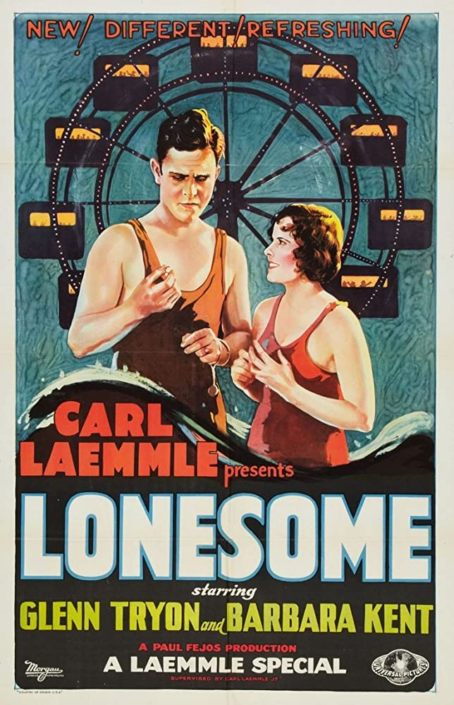 Barbara Kent and Glenn Tryon in Lonesome (1928)