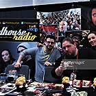 Zambo, Brimstone, Tom Greer & Kim Adragna of The Grindhouse Radio signing at the Great Philadelphia Comic Con 2018