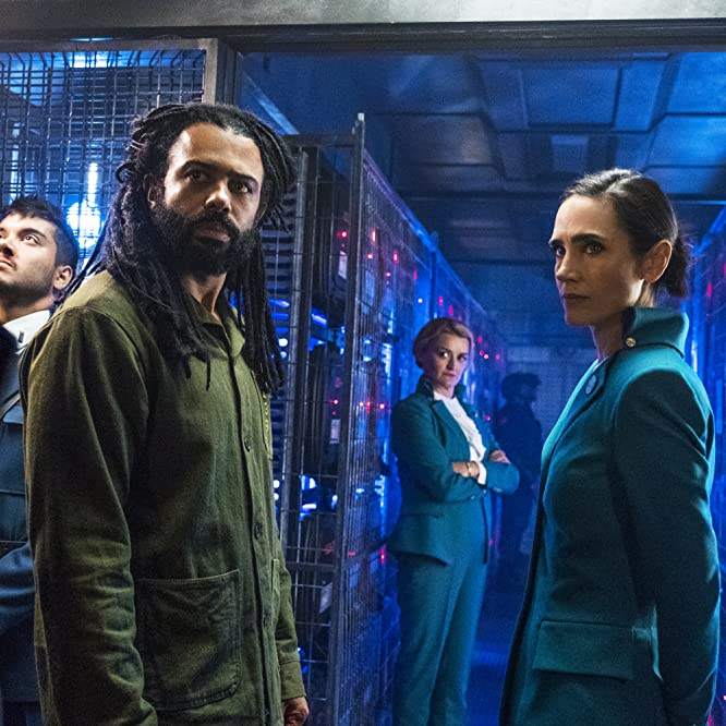 Jennifer Connelly, Alison Wright, Daveed Diggs, and Sam Otto in Snowpiercer (2020)