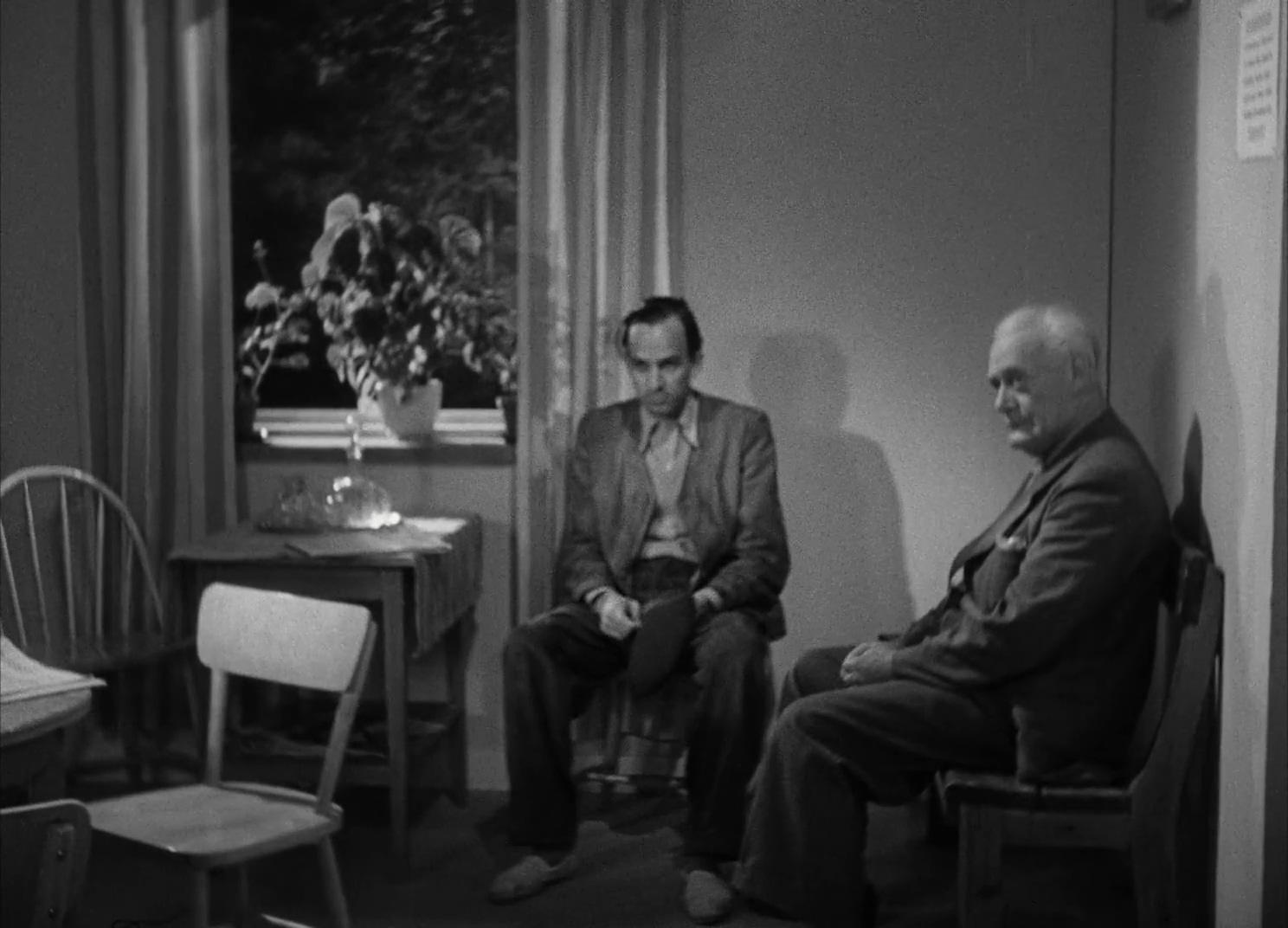 Ingmar Bergman and Tor Borong in Till glädje (1950)