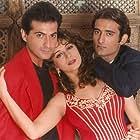 Madhuri Dixit, Sanjay Kapoor, and Akshaye Khanna in Mohabbat (1997)