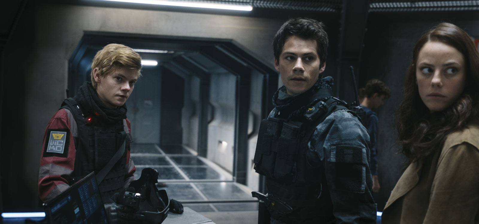 Thomas Brodie-Sangster, Kaya Scodelario, and Dylan O'Brien in Maze Runner: The Death Cure (2018)