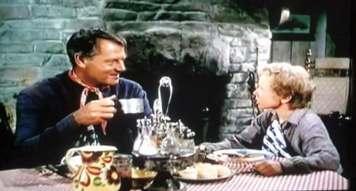 Jimmy Hunt and Joel McCrea in The Lone Hand (1953)