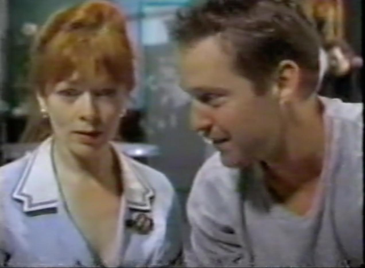 D.B. Sweeney and Frances Fisher in Strange Luck (1995)