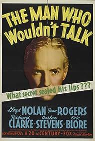 Lloyd Nolan in The Man Who Wouldn't Talk (1940)