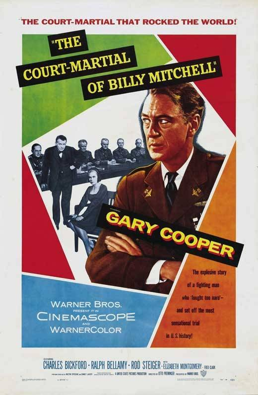 Gary Cooper, Elizabeth Montgomery, Rod Steiger, and Charles Bickford in The Court-Martial of Billy Mitchell (1955)