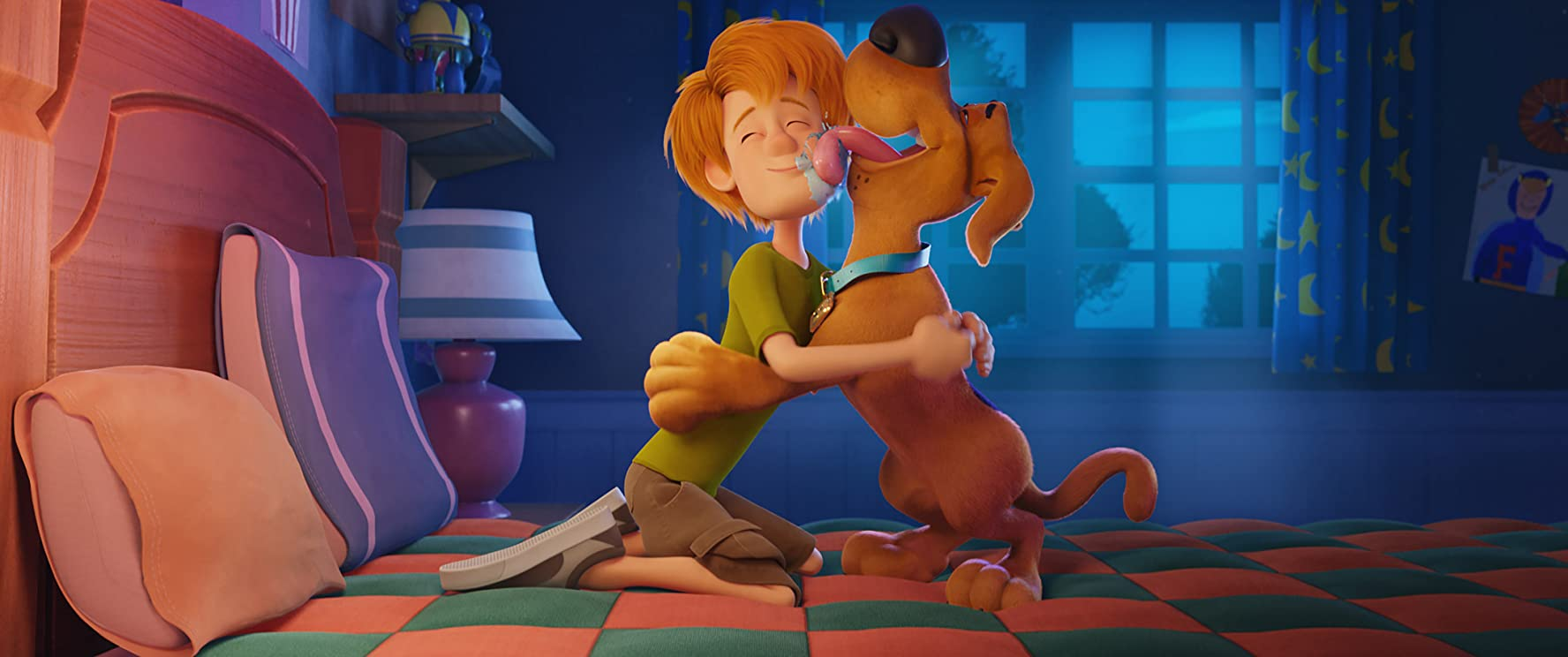 Frank Welker and Iain Armitage in Scoob! (2020)