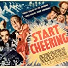 Jimmy Durante, Moe Howard, Larry Fine, Craig E. Earle, Curly Howard, Gertrude Niesen, Joan Perry, Charles Starrett, Raymond Walburn, Louis Prima and His Band, and The Three Stooges in Start Cheering (1938)