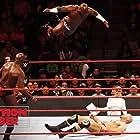 Claudio Castagnoli, Thaddeus Bullard, Sesugh Uhaa, and Ashley Mae Sebera in WWE Elimination Chamber (2018)