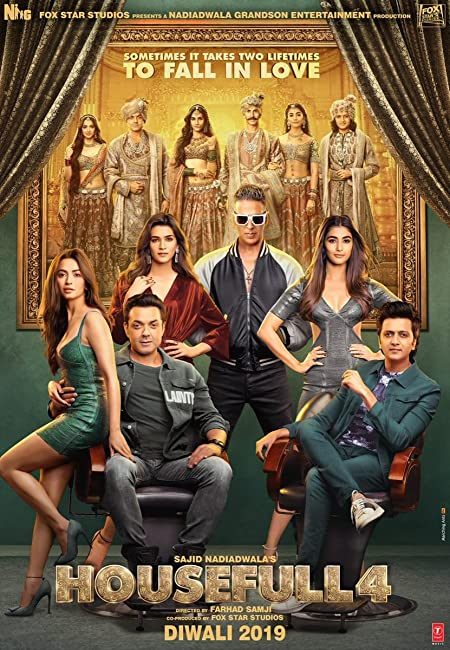 Housefull 4 (2019) Hindi Movie 720p HDRip x264 AAC 800MB Download