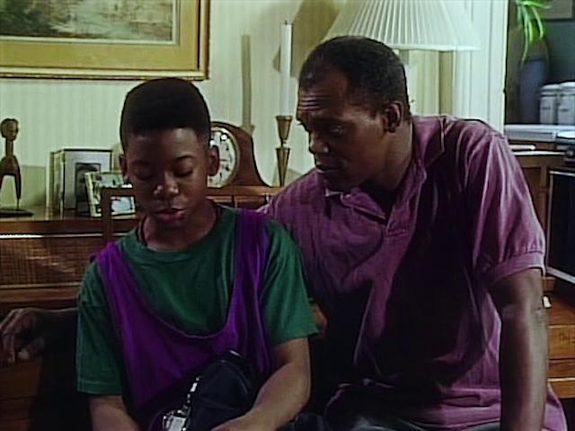 Samuel L. Jackson and Sheldon Turnipseed in Ghostwriter (1992)