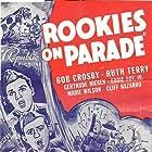 Bob Crosby, Eddie Foy Jr., Cliff Nazarro, Gertrude Niesen, Ruth Terry, and Marie Wilson in Rookies on Parade (1941)