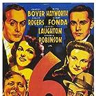 Henry Fonda, Rita Hayworth, Edward G. Robinson, Charles Boyer, Charles Laughton, and Ginger Rogers in Tales of Manhattan (1942)