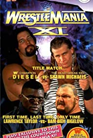 Bam Bam Bigelow, Shawn Michaels, Kevin Nash, and Lawrence Taylor in WrestleMania XI (1995)
