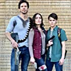 Brandon Johnston, Christina Licciardi, and Matt Pohlkamp in Alien Siege