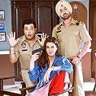 Diljit Dosanjh, Kriti Sanon, and Varun Sharma in Arjun Patiala (2019)