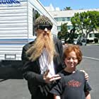 Skyler on the set of Bones with Billy from ZZ Top