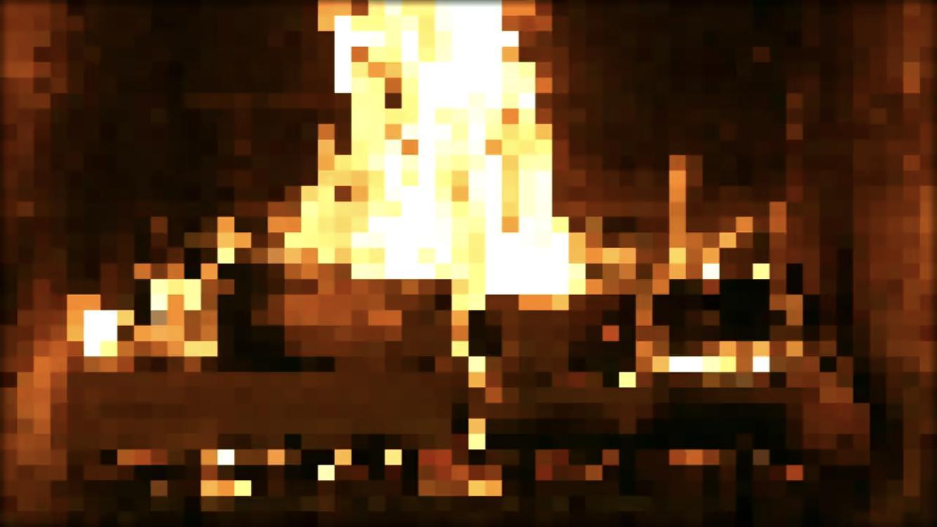 8 Bit Digital Fireplace With Music 2017