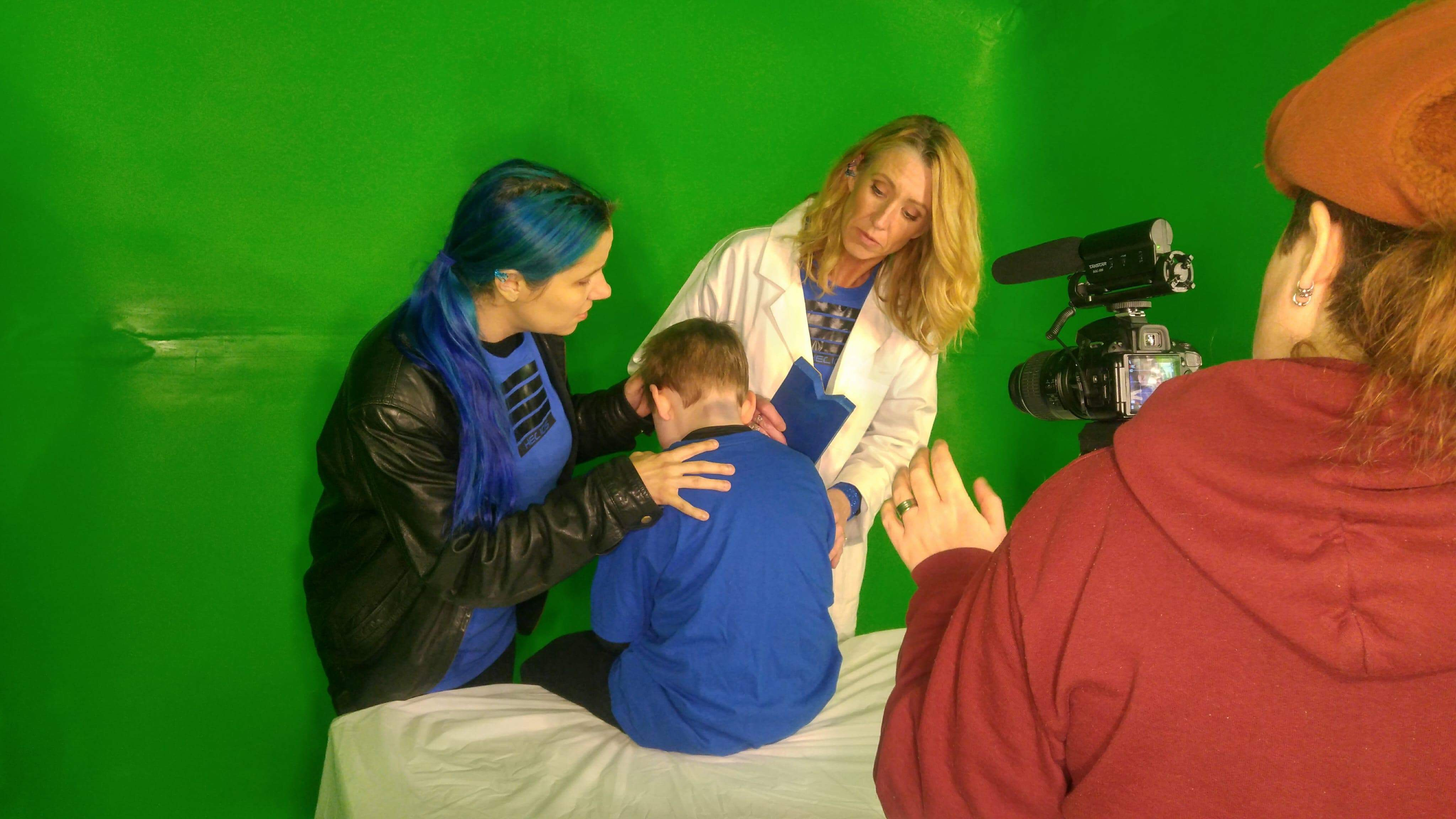 """On set for web series """"Helios"""""""