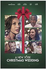 Chris Noth, Adriana DeMeo, Cooper Koch, Nia Fairweather, and Otoja Abit in A New York Christmas Wedding (2020)