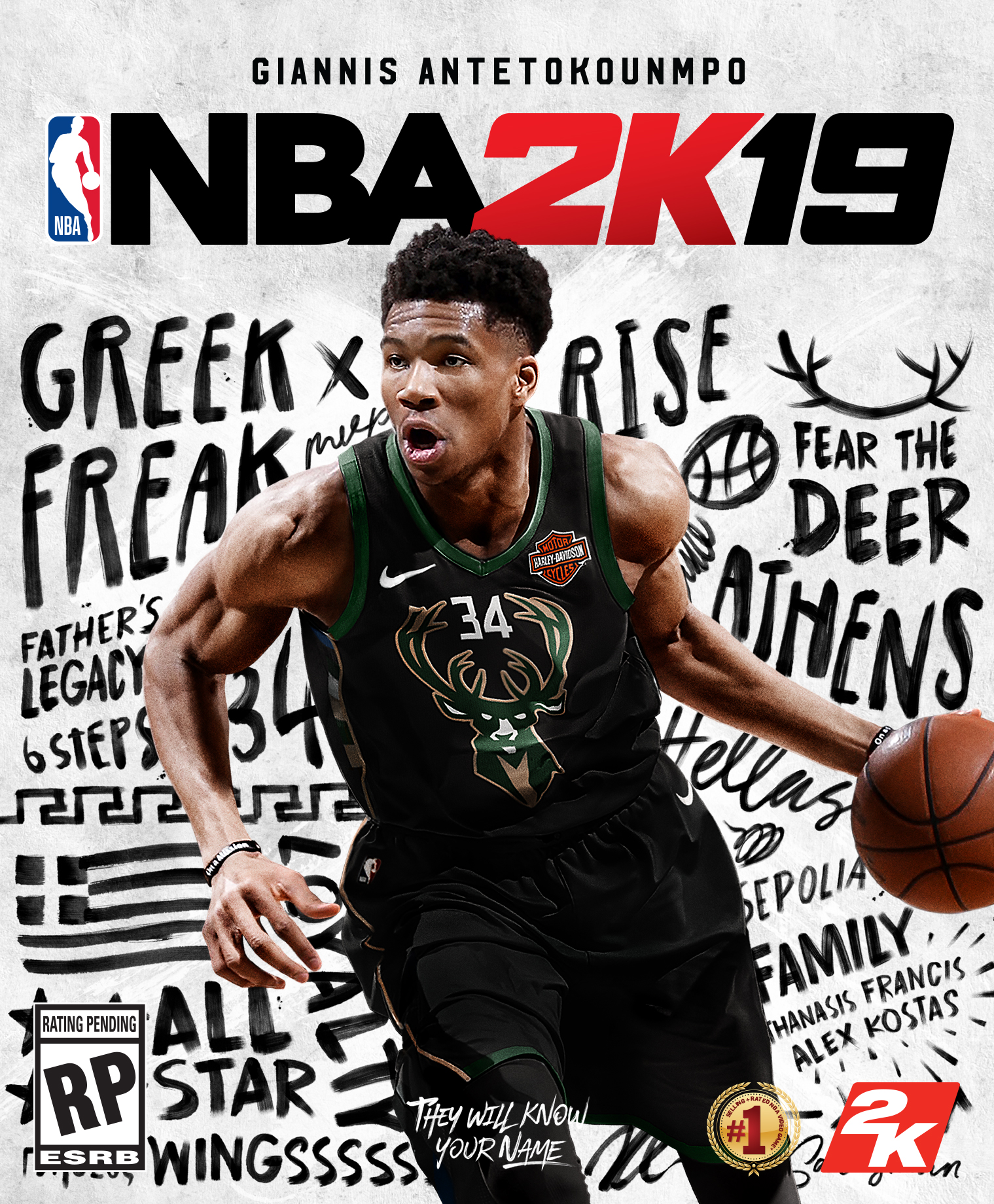 Giannis Antetokounmpo in NBA 2k19 (2018)