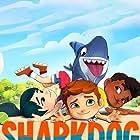 Dee Bradley Baker, Judy Alice Lee, Liam Mitchell, and Aly Mawji in Sharkdog (2021)