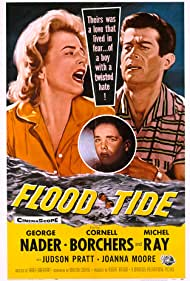 Cornell Borchers, George Nader, and Michel Ray in Flood Tide (1958)