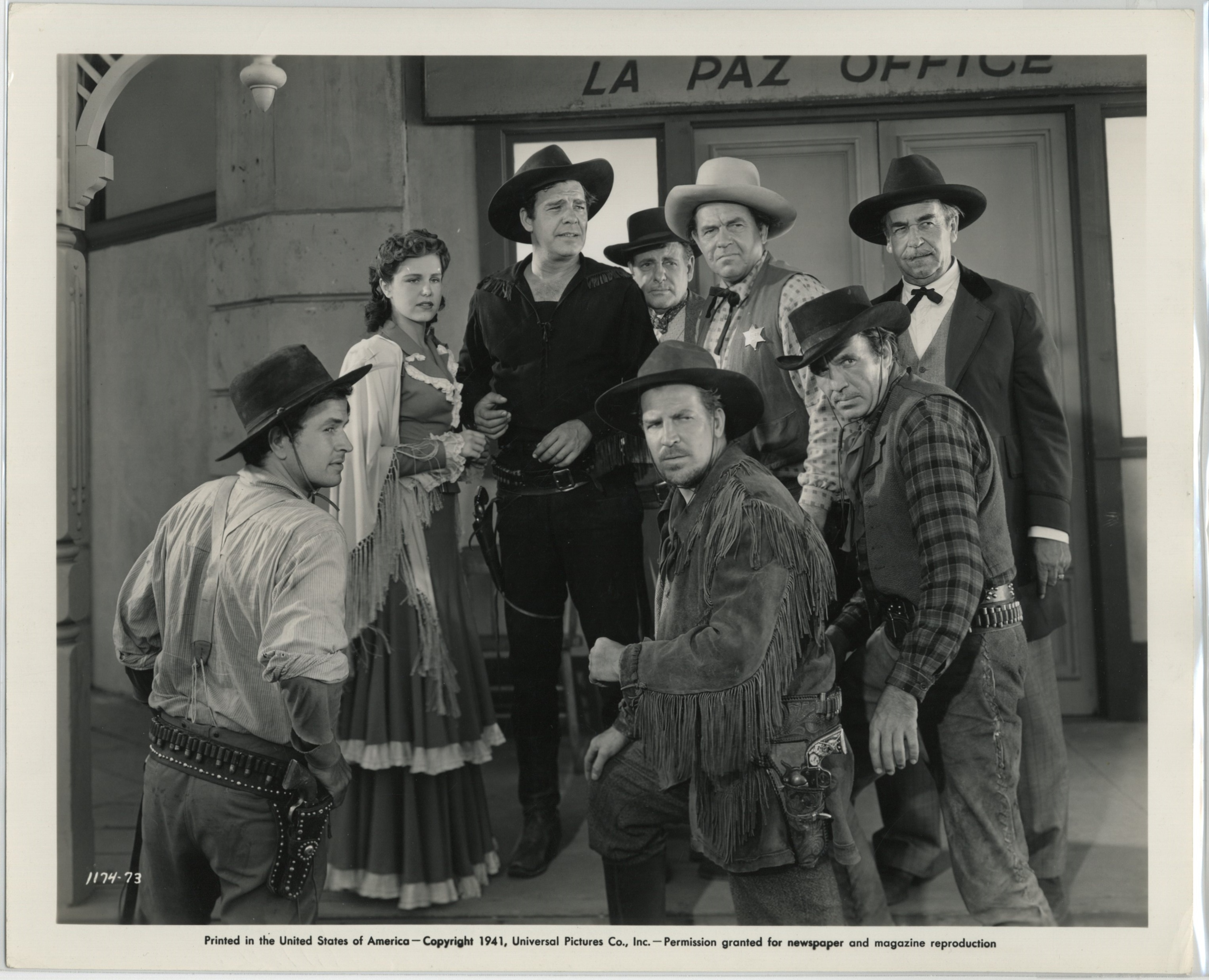 Noah Beery Jr., Lon Chaney Jr., Noah Beery, Tom Chatterton, Ethan Laidlaw, Helen Parrish, Don Terry, and Jack Rube Clifford in Overland Mail (1942)